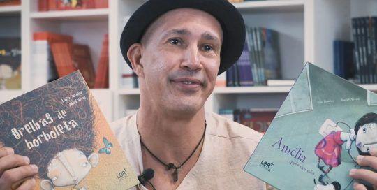 André Neves visita Kalandraka TV